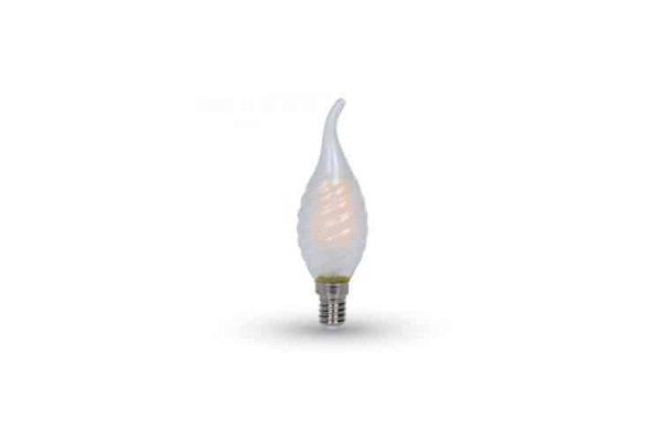 Comprar  Bombilla Led E14 Vela Llama de Filamento 4W V-TAC 400LM 4500K