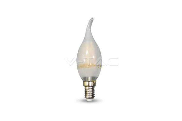 Comprar  Bombilla Led E14 Vela Llama de Filamento 4W V-TAC 400LM 6000K