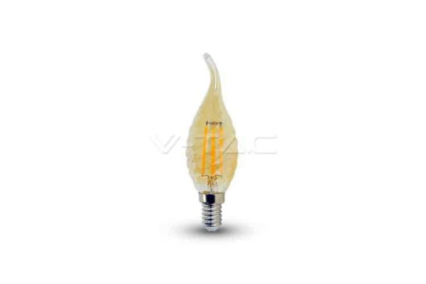 Comprar  Bombilla Led E14 Vela Llama de Filamento 4W V-TAC 350LM 2200K
