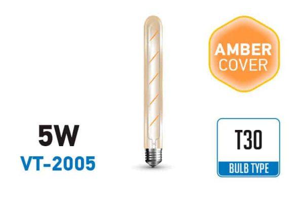 Comprar  Bombilla Led E27 T30 Vintage 5W V-TAC 500LM 2200K