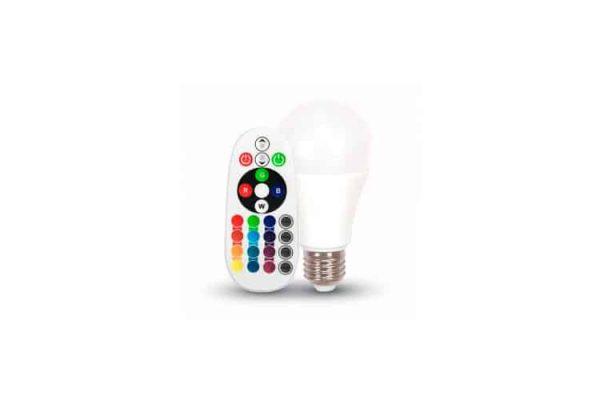 Comprar  Bombilla Led E27 RGB Remote 6W V-TAC 470LM 6000K